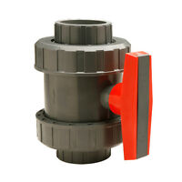 3/4 Gray Pvc True Union Ball Valve - Schedule 40 & 80 - Threaded And Slip Weld