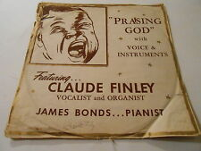 LP 33 CLAUDE FINLEY  VOCALIST  UNUSUAL PAPER LP COVER ,SIGNED ,VG,/R- V+++
