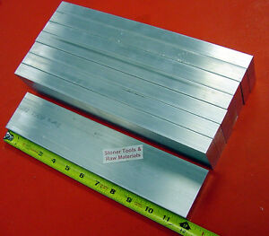 """4 Pieces 1//2/"""" X 4/"""" ALUMINUM 6061 FLAT BAR 7/"""" long Solid T6511 Plate Mill Stock"""
