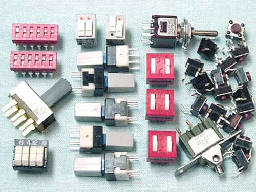 32 Panel DIP types pc MINIATURE SWITCH Assortment including PCB Toggle