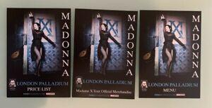 MADONNA-MADAME-X-TOUR-LONDON-PALLADIUM-VIP-FLYERS-3-DIFFERENT