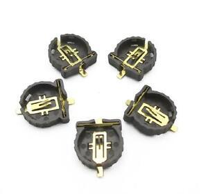 50PCS Button Battery Socket Clip Holder Box Case Portable CR1220