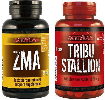 TRIBULUS TERRESTRIS 60 caps + ZMA 90 Caps Natural Stack Testosterone Booster eBay