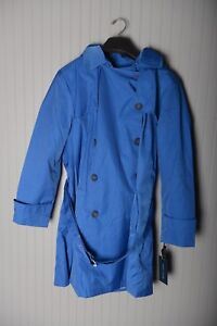 Details about Tommy Hilfiger Women's Double Breasted Trench Coat Nautical Blue XL 1X Hoodie