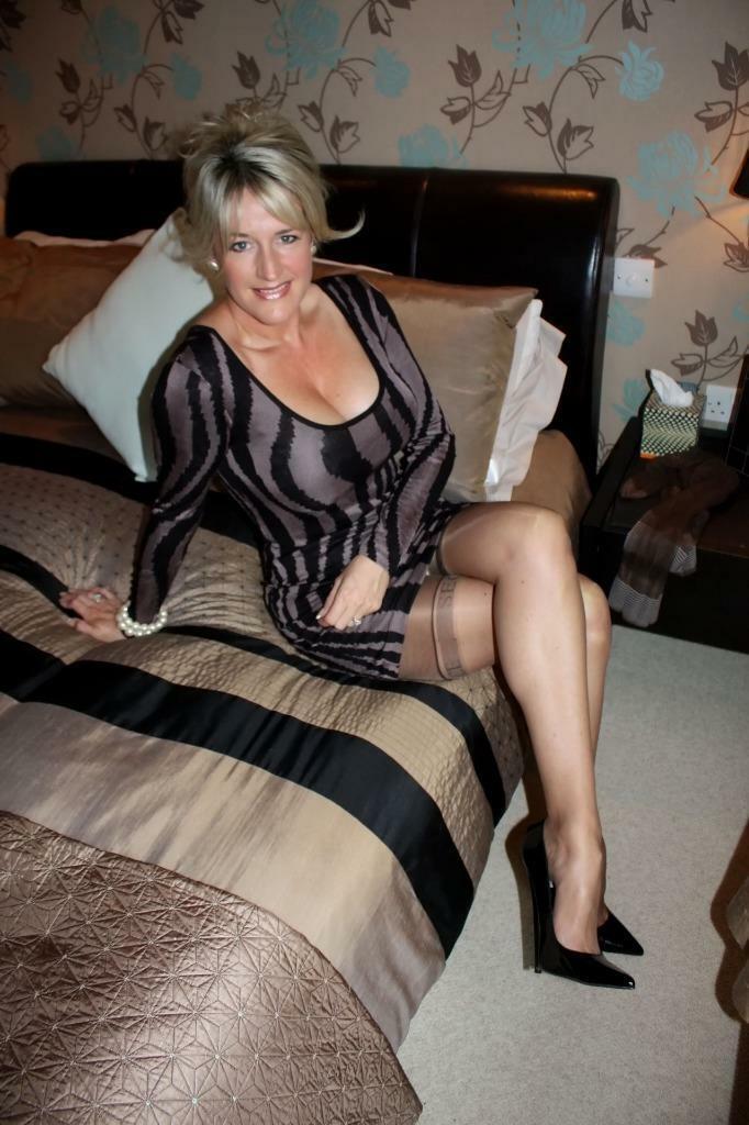 Mature Blonde Stockings Anal