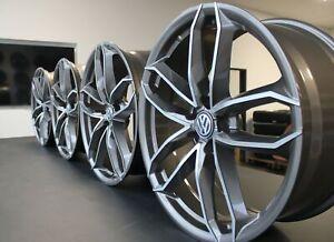 4x 18 Zoll Felgen VW Tiguan Touran Beetle EOS Golf Passat T-ROC WH33 Platin Grau