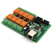Ethernet Relay controller module,WEB server IP + Temperature sensor LM35DZ 24VDC