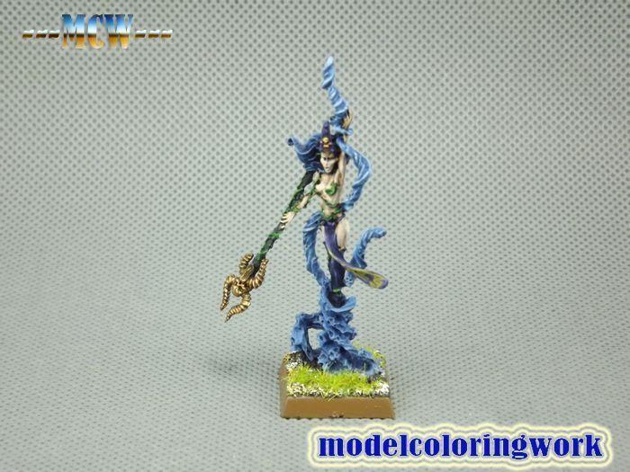 25mm Warhammer Fantasy WGS Painted Dark Elf Supreme Sorceress DK002
