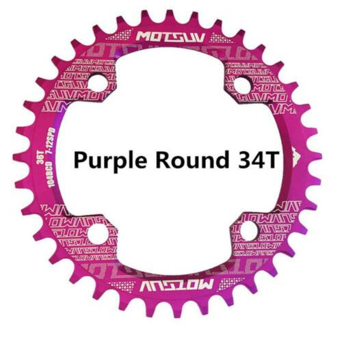 Bicycle/&Crank 104BCD Round 32T//34T//36T//38T MTB Chainring Bicycle Chainwheel Bike