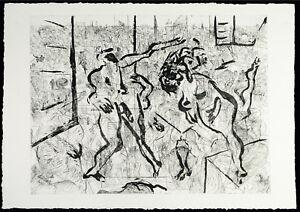 Kunst-in-der-DDR-1985-Grosse-Radierung-Andreas-DRESS-1943-2019-D-handsigniert