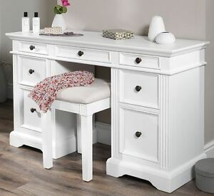 Image Is Loading Gainsborough Dressing Table SOLID White Dressing Table  Deep