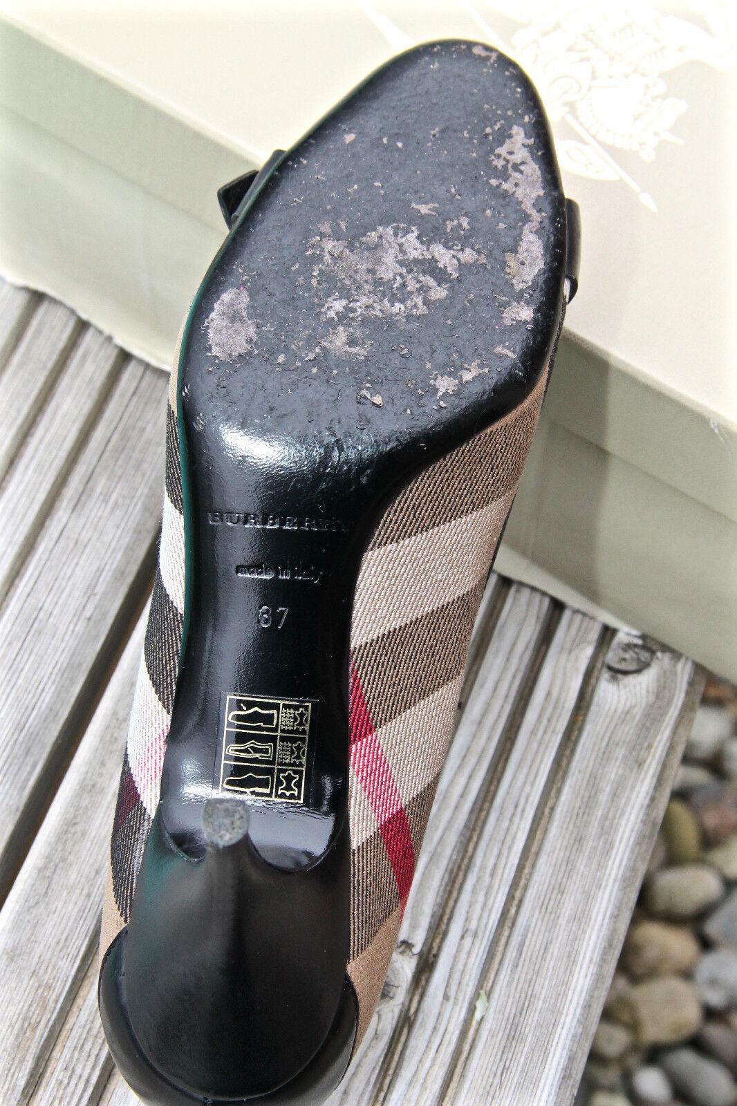 Luxueux escarpins cuir cuir cuir et tartan BURBERRY pointure 37  NEUF EN BOITE valeur 5162d1