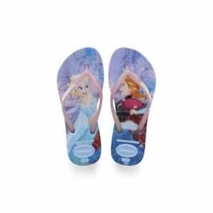Kids Girls Havaianas Slim Princess Lightweight Disney Rubber Flip Flops UK 8-4