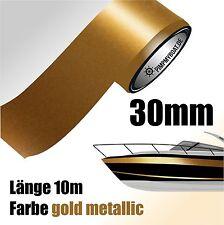 ZIERSTREIFEN 10m GOLD METALLIC 30mm Auto Boot Jetski Modellbau Vinyl