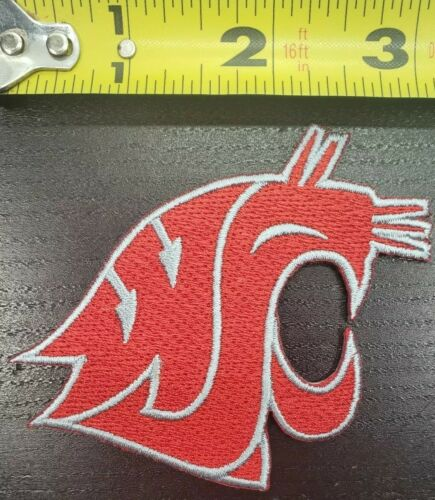 """Washington State Cougers 3/"""" Iron//Sew On Patch~FREE SHIPPING FROM THE U.S.~"""