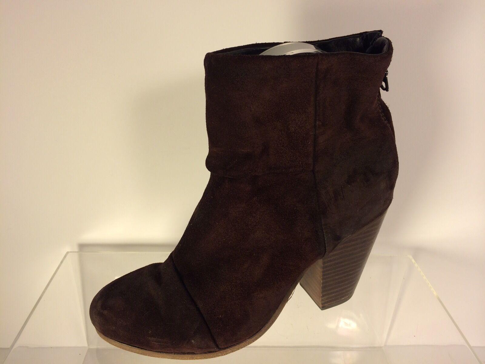Rag Suede & Bone Damens Braun Suede Rag  Leder Stiefel 36.5 e76d40