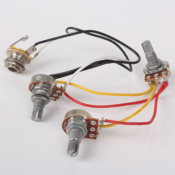 jb jazz bass assembly circuit wiring harness 500k pots input jack rh ebay com
