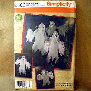 Simplicity-2486-Ghost-Family-Costume-Pattern-S-M-M-L