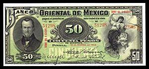 El-Banco-de-Oriental-de-Mexico-50-Pesos-3-14-1914-M463c-BK-PUE-44-AU