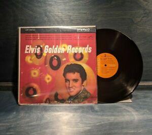 Golden Records by Elvis Presley Vinyl LP, LSP 1707(e) Orange RCA Label Hollywood