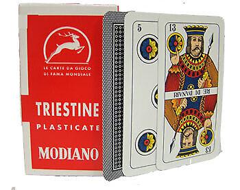 Deck Of Triestine Italian Regional Playing Cards Mod-4017