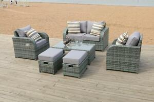 Image Is Loading Grey Rattan Garden Furniture Set Sofa Reclining Chairs & Reclining Wicker Garden Chairs | Fasci Garden islam-shia.org