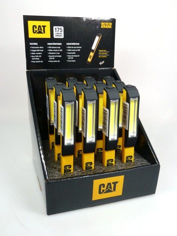12 x CAT CT1000 LED Taschenlampe Arbeitsleuchte 175 Lumen 10 Meter  Display