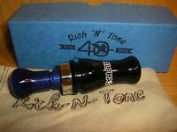 Rnt Rich-n-tone Alpha 2 Acrylic Dbl Reed Mallard Duck Call Black Electric Blue