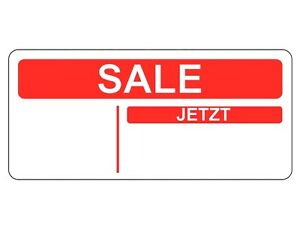 Aleman-Rojo-SALE-Jetzt-reduziert-PEGATINAS-Etiquetas-Adhesivas-placas