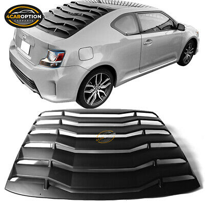 2pcs Gloss Black Rear Side Window Louvers Scoop Cover Vent 05-09 Fit For Ford Mustang QianHaoQJu XW-HCTFGZ