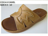 Women Comfy Wedge Sandals Causal Dress Summer Slippers Faux Leather Shoes Coca-6