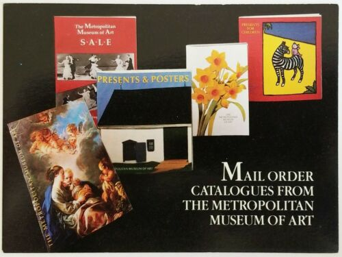 Details about  /Ad POSTCARD for Mail Order Catalogues from Metropolitan Museum of Art Unposted
