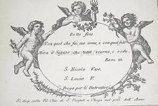 NAPOLI_CHIESA DI S. PASQUALE A CHIAIA_S. NICOLA_S. LUCIA_INUSUALE PICCOLA STAMPA