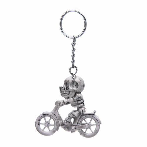 Raucher Skelett auf Fahrrad Schlüsselanhänger Schlüsselbund Totenkopf NEU Z81