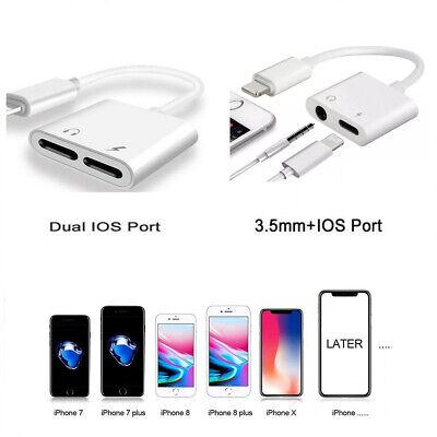 Adattatore audio per iPhone X XS MAX 7 8 Plus Auricolare AUX Dual Ports RK   eBay