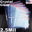 Clear-Zip-Lock-Bags-2-5Mil-Plastic-Ziplock-Reclosable-Storage-Large-Poly-Zipper thumbnail 1