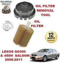FOR LEXUS GS 300 450 H HYBRID 2005-2011 NEW OIL FILTER & OIL FILTER REMOVAL TOOL