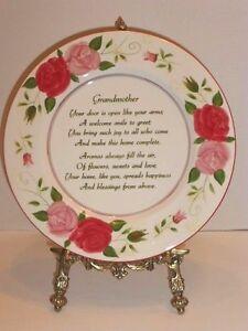 034-Grandmother-034-12-034-D-Decorative-amp-Functional-Porcelain-Sentimental-Plate-New