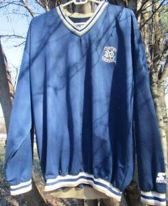 Notre-Dame-Fighting-Irish-Starter-pullover-mens-large-blue-amp-gold-vintage