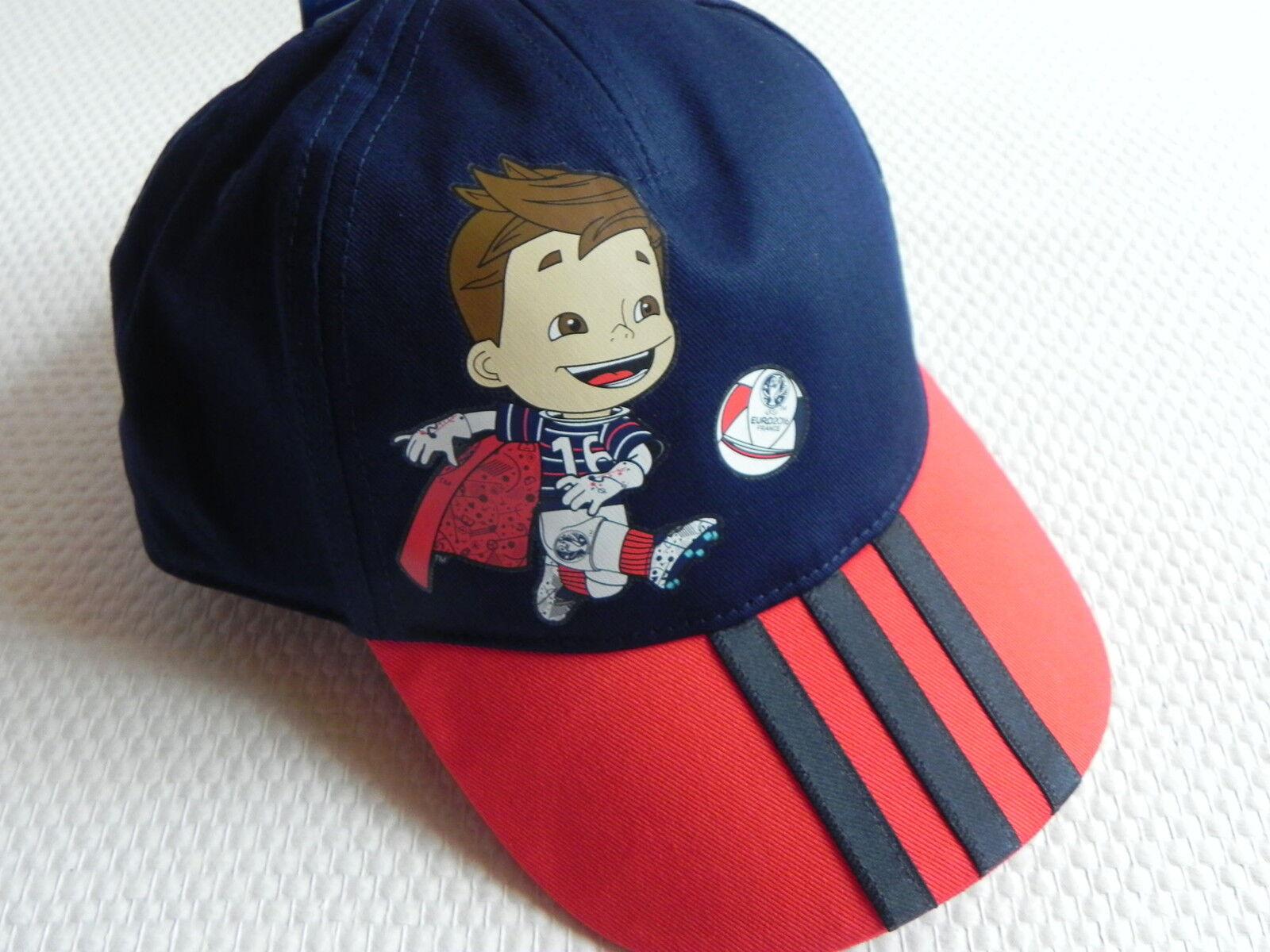 Adidas Hat Base Cap MASCOT pour enfants en bleu / rouge avec un design neuf