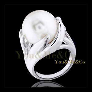 18k-White-Gold-EP-13mm-Cream-Pearl-Cocktail-Ring