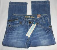 Limited Too Girls Straight Leg Super Low Slim Denim Jeans 6s