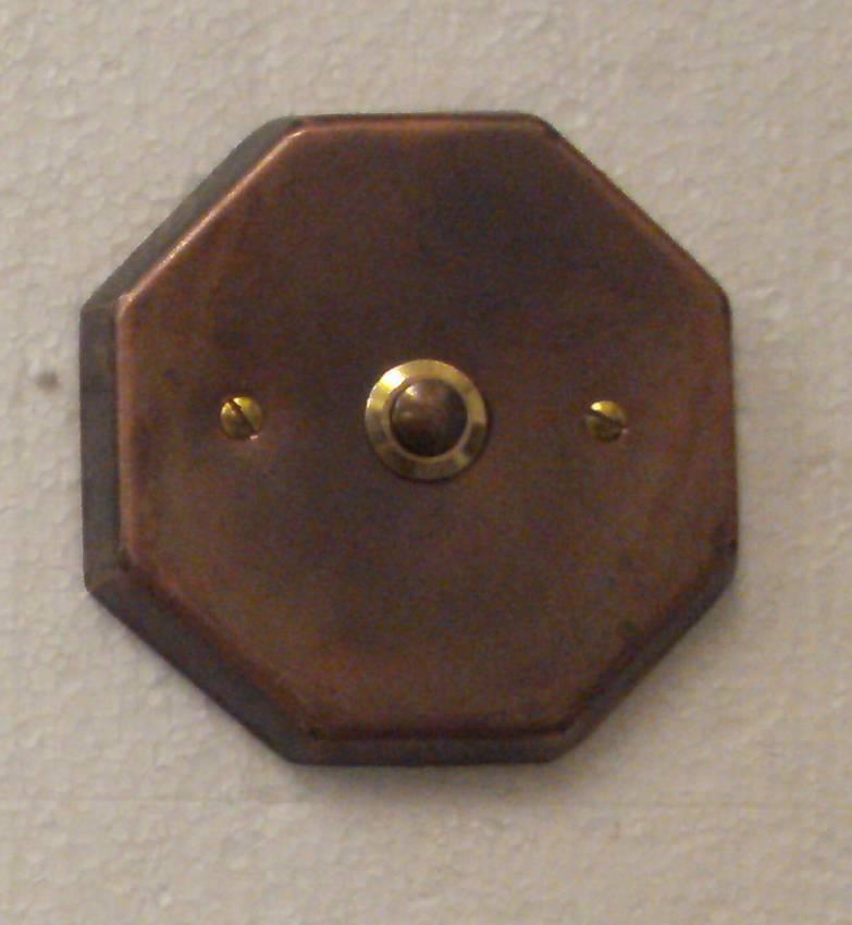 Klingelknopf Klingelplatte Klingeltaster Kupfer Kupferklingelknopf Klingel