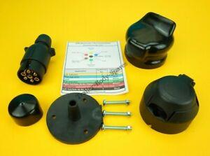 7 Pin 12N Socket with Rear Gasket Seal /& Socket Cover for Trailer /& Caravan