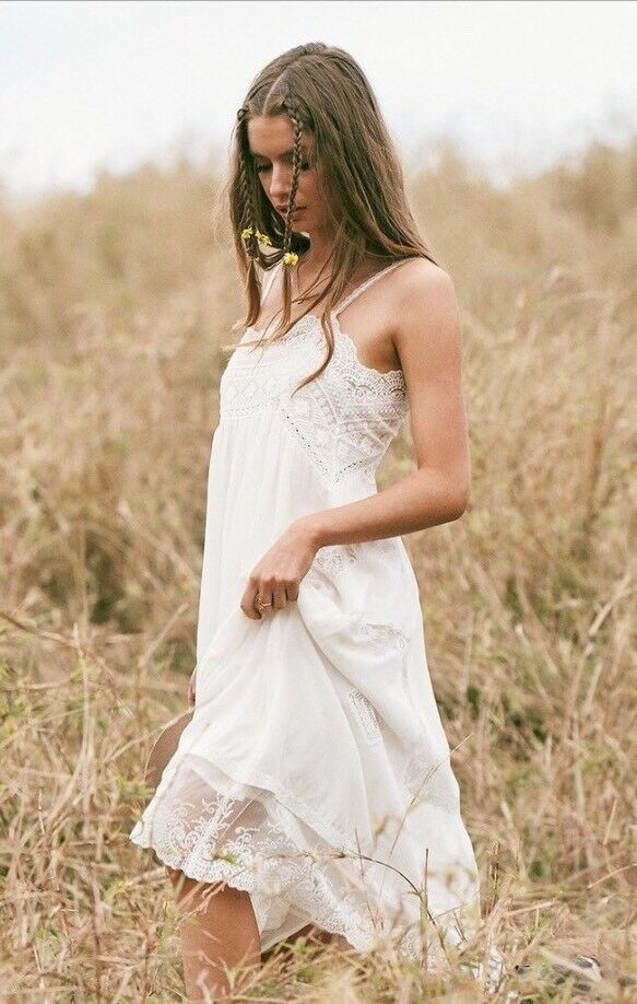 SPELL & THE GYPSY DESIGNS COLLECTIVE PEACHES SLIP DRESS XS