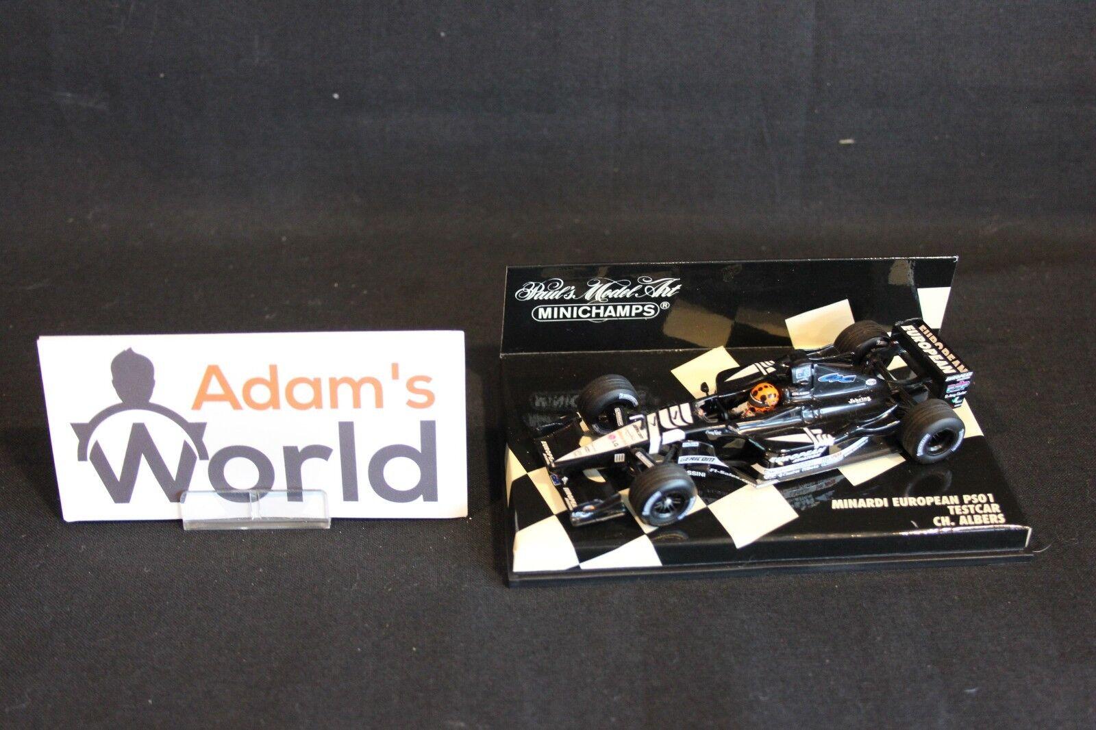 Minichamps Minardi European PS01 2001 1:43 test Christijan Albers  NED   MM1