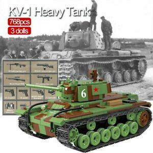 Lego-ww2-Tank-KV-1-Panzer-Allemand-Vehicule-Militaire-Jouet-Construction-russian