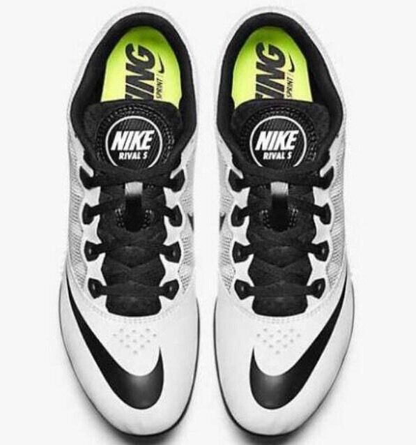 super popular 2f584 494f7 Nike Zoom Rival S 7 Mens Track   Field Spikes Sprint Running Shoes White 13  for sale online   eBay