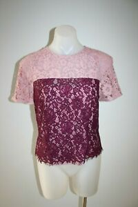 ALANNHAH-HILL-pink-lace-top-amp-cami-size-10-140-NEW