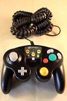 Gamecube Controller 7000n Nintendo Super Smash Black Classic +wii M096